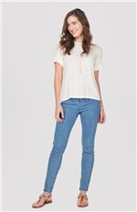 Calça Jeans Super Skinny Enfim Azul - 40