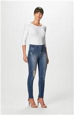 Calça Jeans Super Skinny Malwee Azul Escuro - 38