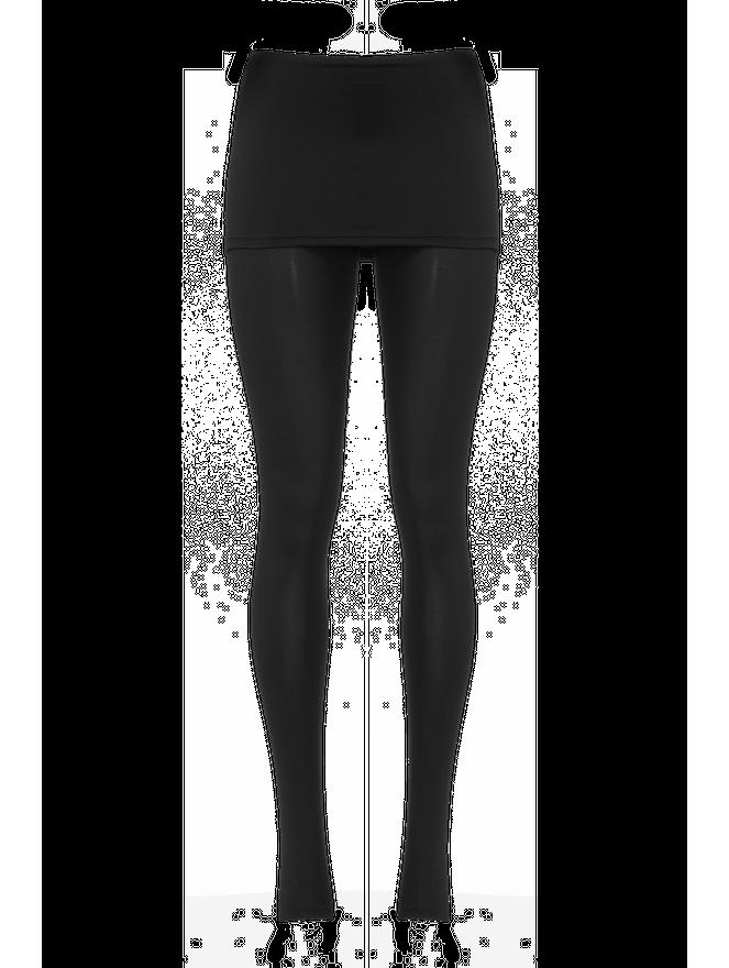 Calça Legging Bio Attivo Cós Saia Sottile Preta Tamanho M