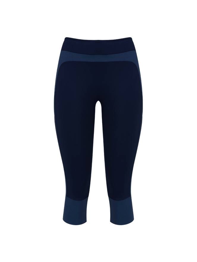 Calça Legging Bio Attivo Curta Tom Sobre Tom Azul PP