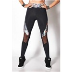 Calça Legging Colcci Fitness com Detalhe Estampado 0025700369 Preto G