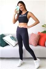Calça Legging Colcci Fitness Recortes Fitness - Preto