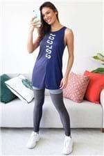 Regata Colcci Fitness Estampada Comfort - Azul