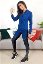 Calça Legging Colcci Fitness Recortes Texturas - Cinza