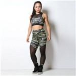 Calça Legging Fitness Words Arsenall com Tela