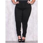 Calça Legging Plus Size com Detalhe em Cirrê P