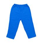 Calça Lisa com Barra Azul Carbono M