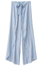 Calça Listrada Adulto Enfim Azul - G