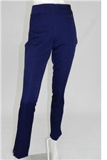 Calça Maria Valentina Skinny com Recortes Azul Tam. 36