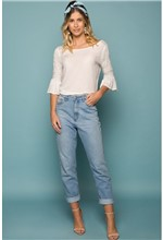 Calça Mom Jeans-36