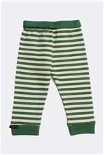 Calça Pala Virada C Punho Listra Bb P - Verde Bandeira