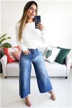 Calça Pantacourt Colcci Jeans Faixa Lateral - Azul