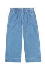 Calça Pantacourt Jeans Cintura Alta Enfim Azul Claro - G