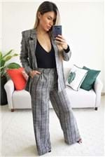 Calça Pantalona Colcci Listrada Edith - Cinza