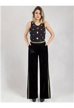 Calça Pantalona de Veludo com Elástico 40