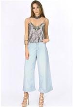 Calça Pantalona Jeans Clara 36