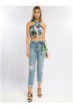 Calça Skinny com Lenço Flower Bird Calça Skinny - 38
