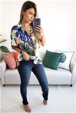 Calça Skinny Farm Jeans Barra Desfiada - Azul