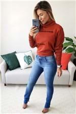 Calça Skinny Morena Rosa Andreia Cos Intermediário - Azul