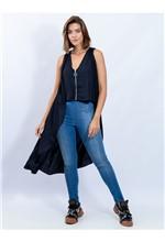 Calça Super Skinny Jeans com Elástico na Barra com - 38