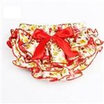 Calcinha Babado para Smash - Vermelho Floral