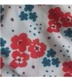 Calcinha Básica em Cotton - 191 Flores Vermelha e Verde Musgo M