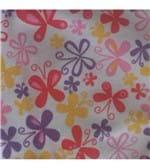 Calcinha Cotton Estampada com Tiras - 648 Borboletas Coloridas G