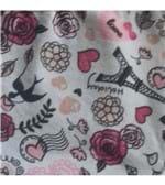 Calcinha Cotton Infantil - 707 Laços Rosa Torre Eiffel P