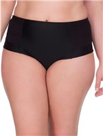 Calcinha Lateral Dupla Renda Plus Size - Preto - 1XL
