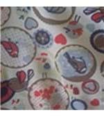 Calcinha Microfibra Infantil Estampada - 706 Pássaros Variados Vermelho/P