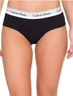 Calcinha Short Modern Cotton - Preto - M