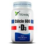 Cálcio 600 e Vitamina D3 180cps Fitoway