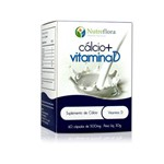 Cálcio + Vitamina D (500mg) -60 Caps Nutreflora