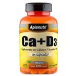 Cálcio + Vitamina D3 Apisnutri 120 Cápsulas