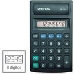 Calculadora de Bolso 8 Dig. Pilha Aa Preta Procalc