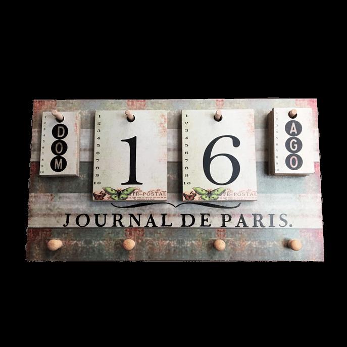 Calendário de Parede com Ganchos Paris Único (32 X 18 Cm)