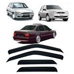 Calha de Chuva 4 Portas Chevrolet Vectra 93 Até 96 Ford Fiesta Street 96 Até 2004 e Escort Zetec 97 Até 2001