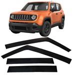 Calha de Chuva 4 Portas Jeep Renegade 2015 Até 2018
