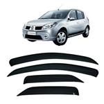 Calha de Chuva 4 Portas Renault Sandero 2007 Até 2013
