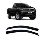 Calha de Chuva 2 Portas Ford Nova Ranger 2012 Até 2018 Cabine Simples