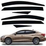 Calha Defletor de Chuva Focus Sedan 2014 a 2016 Acrilico Inteiriça