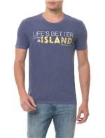 Calmiseta CKJ MC Estampa Island Azul Escuro CAMISETA CKJ MC ESTAMPA ISLAND - AZUL ESCURO - P