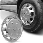 Calota Esportiva Aro 15 Universal para Vans Cromada Capa de Roda Fixação por Presilhas