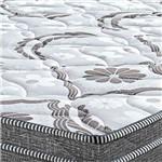 Cama Box Queen Springs Gray 56x158x198 - Probel - Branco / Grafite / Prata