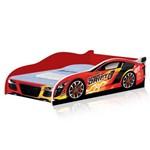Cama Infantil Carro Drift 150x70 Cm - Vermelho / Vermelho - Rpm Móveis