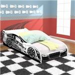 Cama Solteiro Carros Drift - Branco / Branco - Rpm Móveis