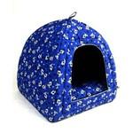 Cama Toca Pet Cabana Iglu Caminha para Cachorro Gato Binnopet Dogs Azul G