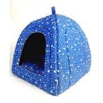 Cama Toca Pet Cabana Iglu Caminha para Gato Cachorro Binnopet Patinhas Azul - G
