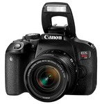 "Câmera Dslr Canon Eos Rebel T7i 24.2mp 3.0"" Wi-Fi/bluetooh/nfc + Lente Is Stm -"