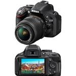 Câmera Digital DSLR Nikon D5200 24.1MP Lente AF-S 18-55mm F/3.3 Preta
